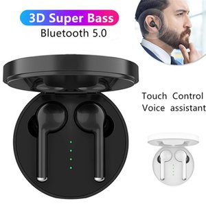 TWS Bluetooth headset Bluetooth 5.0 headset TW40 1:1 fast shipping stereo HiFi with built-in hands-free call HD microphone-black and white