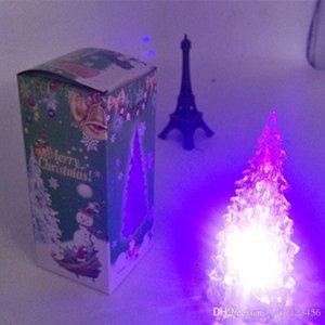 explosões Natal acrílico da árvore de Natal levou luz noite grossista Crystal árvore de Natal
