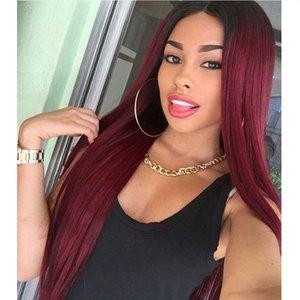 Amazon esplosione modelle colorazione parrucca europee e americane stile delle donne di Carve lunghi capelli lisci Chemical Fiber parrucca Produttori Spot