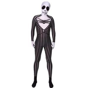 2019 Adultes Enfants Nightmare Before Christmas Jack Skellington Cosplay Zentai Costume Party Bodysuit