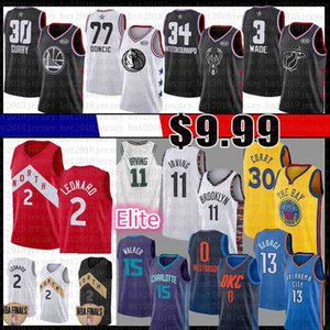 Kawhi Kemba Walker Kyrie Irving Leonard Jersey Russell Westbrook Paul Giannis Luka George Stephen Curry Dwyane Wade Doncic Antetokounmpo 2