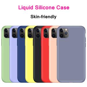 Silicone Líquido macio TPU borracha cor de doces à prova de choque caso capa para iPhone 11 Pro Max XR XS Max 6 7 8 mais