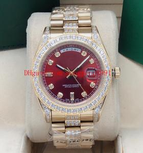 9 color de 41 mm de alta calidad 11823 incrustaciones de diamantes llena Day-Date correa con incrustaciones de diamantes de línea 2813 movimiento automático del reloj de los relojes mecánicos