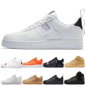 nike air force 1 Pack classique blanc Hommes Chaussures de basketball Femme orange Triple Blanc noir taille haute Utilitaire Blanc Noir Lin Sport Trainer Sneakers Chaussures