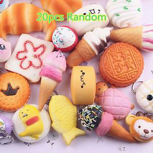 20PCS Jumbo Médio Mini aleatória mole suave Panda / pães / bolos / bolos Phone Straps