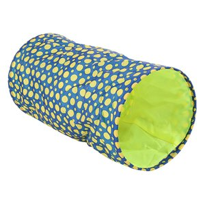 Cat Toy Collapsible Tunnel Tube with Plush Balls, for Small Pets Bunny Rabbits, Kittens, Ferrets,Puppy and Dogs, 19.5-Inch.L