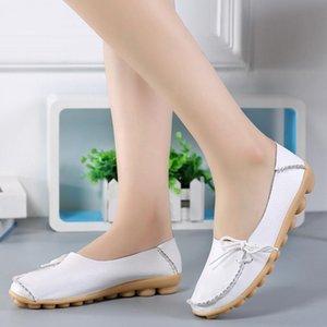 Donne Geniune Leather Shoes Mocassini Madre fannulloni morbida tempo libero Appartamenti femminile Casual Footwear 2018 New Spring