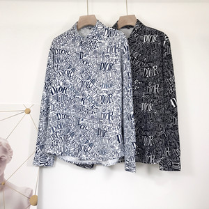 Men fashion shirt Business Leisure shirt Long sleeve lapel 2020 new products Spring and autumn clothing 3D letters Printed Men's Shirt