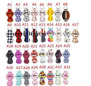 55 Styles Lily Rouge à lèvres Porte-couverture porte-clés en néoprène Chapstick Holder Lip Cover colorés Baume à lèvres Cas de protection Cadeaux couverture VT0824