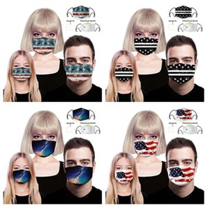 High definition 3D printing mask summer fashion dust mask personality creativity men and women Designer Mask T2I5939