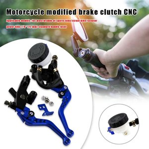 CNC 22mm 7 8 Motorcycle Front Brake Clutch Levers+Master Cylinder Reservoir Set Black Red Gold Blue Green and Silver