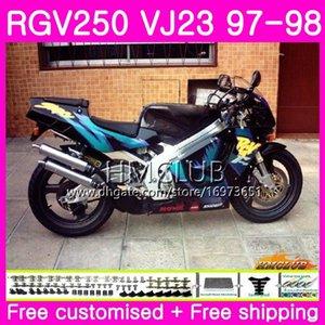 Bodys For SUZUKI SAPC RGV-250 VJ22 VJ21 RGV 250 97 98 99 Frame 19HM.25 RVG250 VJ23 RGV250 VJ 21 22 23 1997 1998 1999 Fairing Stock black