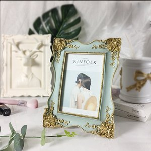 New Murals European Photo Frame Home Decoration Retro Creative Home Gift 6 Inch Resin Wedding Nordic Photo Frame Set Furnishing