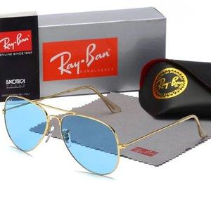 dhthdtjjfg nnngghet 2019 clásico de alta calidad gafas de sol piloto diseñador de la marca para mujer para hombre Gafas de sol Gafas Metal Vidrio Lenses1885