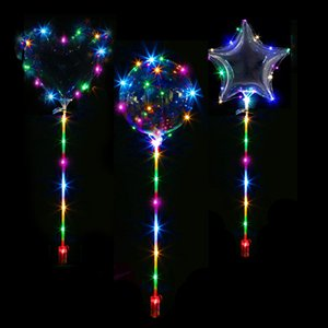 vent & Party Ballons & Accessories Round Heart Star Shape Clear Bobo Latex Balloon With Led Strip Luminous Led Balloons Wedding P...