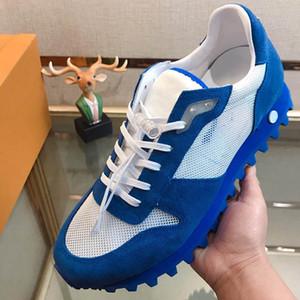 أحدث وصول الأزياء الفاخرة أحذية رجالية شبكة الشاش من جلد الغزال الوحيد دائرة زهرة مصمم أحذية الحجم 38-44 نموذج 395559548