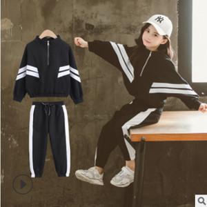 Children 's il tempo libero Sport abbigliamento nuovo set 2020 primavera / autunno ragazze carine 3 Stampa Colori Size4-14 Kids Clothes set di bellezza ly031