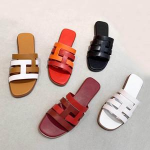Luxo Mulheres Marmont sandálias plataforma Salto de slides Suede couro clássico em forma de H e cores contrastantes simples e Vintage durável