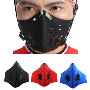 Respirador Máscara Facial Com 1 Filtros de poluição Pollen Allergy Carpintaria executando Máscara lavável Neoprene Meia Face Boca