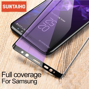 Suntaiho 3D Tempered Glass for Samsung Galaxy S9 S8 Plus Anti Blue Light Glass for Galaxy Note 8 9 s7 s6 edge Screen Protector