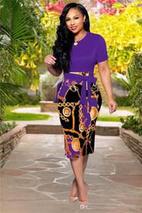 Frauen Sommer Designer Boycon Kleider Flora Print Rundhals Kurzarm Sexy Mode-Art-beiläufige Kleid