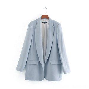 Foreign Trade Original Garment Herrenoberbekleidung Mäntel Herrenbekleidung 2019 neue Art-Damen Kleid Fest Farbe Ol PocketAccent beiläufige Frauen