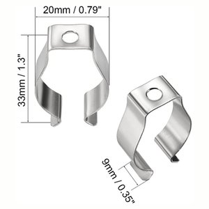 LED T8 Lamp Tube Clamp Ring Pipe Clamp T8 Support Clip Retaining Clip Buckle Metal Clip Tube Holders