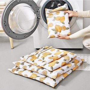 Double Layers Clothes Washing Machine Laundry Bag With Zipper Basket Mesh Bag Household Cleaning Tool Laundry Wash Care Bags Y200111