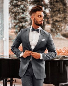 2020 Tailor Made Mens Suits 2 Piece (Coat+Pants) Notched Lapel Costume Homme Formal Groom Suits Custom Made