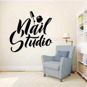 Nagel-Kunst-Polnisch-Wand-Aufkleber Schönheitssalon Dekor Manikürepedicure Vinyl Wandbild Nail Studio Logo-Wand Windows-Aufkleber