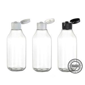 Горячая распродажа, 30 шт., 100 мл прозрачная раковина квадратная горловина бутылки, лосьон бутылки, многоразовые бутылки