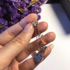 새로운 도착 316L 티타늄 강철 여성 더블 모양의 꽃 보석 선물 PS5601와 귀걸이 펜던트 드롭
