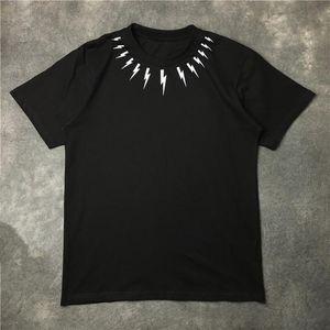 New Fashion Mens elegante uomini della maglietta donne casuali Coppie Uomini cotone manica corta donne di alta qualità Rosso Nero Bianco Tees maglietta Wholesa