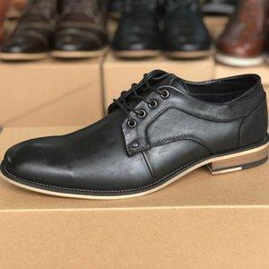 Uomini pelle liscia Scarpe Brogue in pelle di vitello genuini vestito convenzionale scarpe stringate in pelle nera da festa di nozze Brown Scarpe a punta Oxford Shoes