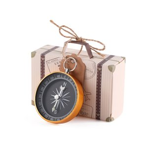 Wedding Favors Karft Paper Key Compass With Tag Candy Gift Box Wedding Gift For Guest Souvenir Birth Party Decoration