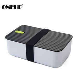 Переиграть полипропилен/силикон обед коробка 1000мл тепловой Бенто коробка для микроволновой печи еды контейнер с отсеками для студентов работник пикник C18112301