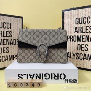 sacchetto di spalla di lusso Bacco catena piazzetta package2020 nuovi europei e americani ricami serpente piccola borsa a tracolla femminile