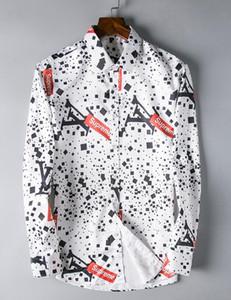 2018 Amerikan iş marka kendini yetiştirme ekose gömlek, moda tasarımcısı marka uzun kollu pamuklu casual gömlek çizgili ortak elbise gömlek 07