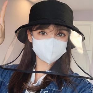 Unisex anti-sputo Anti-Fog Hat rimovibile Coperchio Fishman Bucket Hat