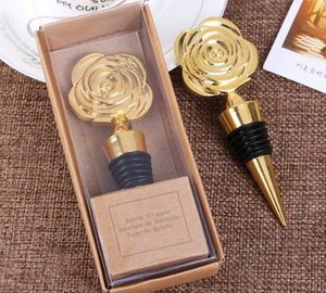 Altın Hediye Kutuları içinde Gül Şarap Şarap Tıpalar Gül Çiçek Şarap Şişesi Tıpa Parti Davetiye Düğün Hediyeleri Şekeri SN3158