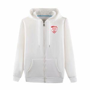 Nimes fútbol chaquetas de fútbol camisetas deportivas chaqueta de entrenamiento de ocio de moda chaquetas con capucha de manga larga de fútbol chaquetas Ventiladores Tops