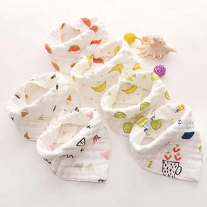 Muslin Baby Bibs Animal Infant Boy Bandanas Newborn Girl Smock Burp Cloth Cotton Feeding Saliva Towel 8 Layers 14 Designs Optional