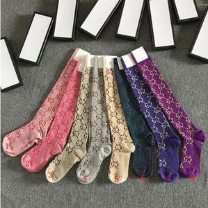 2020 Lettre Mode Automne Nouveaux G Chaussettes d'or chaud or Femmes Bas chaud Mode Cuissardes genou Sock longue Respirant fille Bas