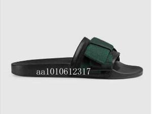 2020 homens e mulheres fashion10MM cetim FLATS slides sandálias com Web arco Sandals Deslize borracha causal feminino masculino Chinelos 35-45