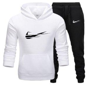 2020 Eşofman Erkekler Seti Harf Spor Eşofman Erkek Pantolon Erkek Spor Suits Artı Boyutu ile Eşofman Ceket Hoodie Sweat S-3XL