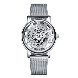 SOXY Classic Brand Mesh Belt Business Men's Watches Hollow Quartz Watches Wholesale Fashion Gift Table Factory Outlet