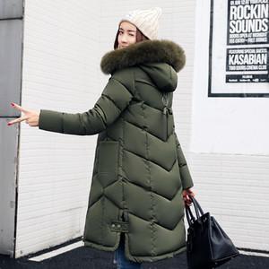 Cappuccio Giacche invernali donne Cappotto invernale parka per le donne Cappotto lungo Tenere Womens caldo giù Giacche Parka Neve Wear