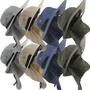 Новый ковш Sun Flap Bonnie Snap Hat Шапка для уха Крышка Рыбалка Туризм Охота Партийные шляпы