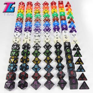 Dice Set D4-D20 Dungeons and Dargon RPG MTG Gioco di società 7pcs / Set