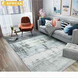 RFWCAK nórdica abstracta Tinta Pintura Sala alfombra para estar Dormitorio antideslizante gran alfombra de la estera del piso de la cocina Alfombras Alfombras